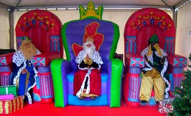 Visita papa noel reyes magos domicilio