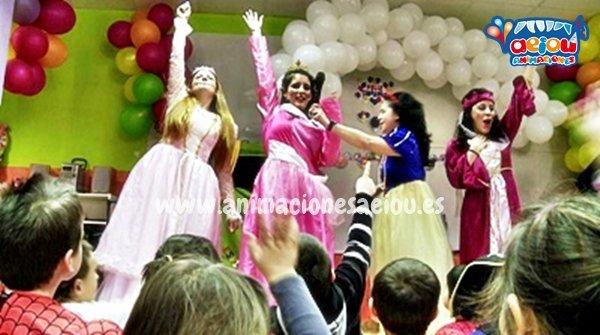 Animadores para fiestas de cumpleaños temáticas de princesas en Tenerife